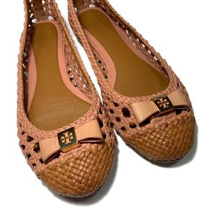 Tory Burch | Carlyle Woven Ballet Bow Flat